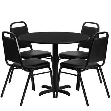 HDBF1001 Flash Furniture - HDBF1001-GG Table & Chair Set (1) round 36