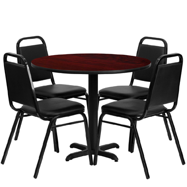HDBF1002 Flash Furniture - HDBF1002-GG Table & Chair Set (1) round 36