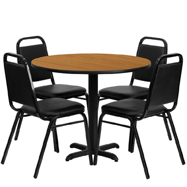 HDBF1003 Flash Furniture - HDBF1003-GG Table & Chair Set (1) round 36