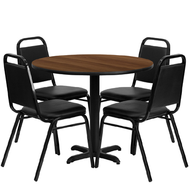 HDBF1004 Flash Furniture - HDBF1004-GG Table & Chair Set (1) round 36