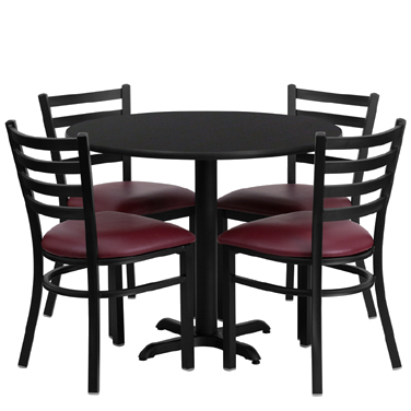HDBF1005 Flash Furniture - HDBF1005-GG Table & Chair Set (1) round 36