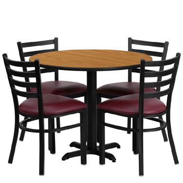 HDBF1007 Flash Furniture - HDBF1007-GG Table & Chair Set (1) round 36