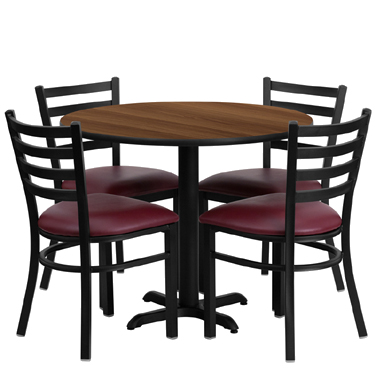 HDBF1008 Flash Furniture - HDBF1008-GG Table & Chair Set (1) round 36