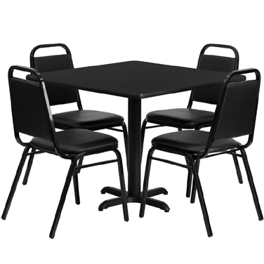 HDBF1009 Flash Furniture - HDBF1009-GG Table & Chair Set (1) square 36