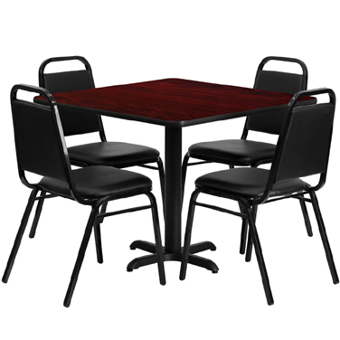 HDBF1010 Flash Furniture - HDBF1010-GG Table & Chair Set (1) square 36