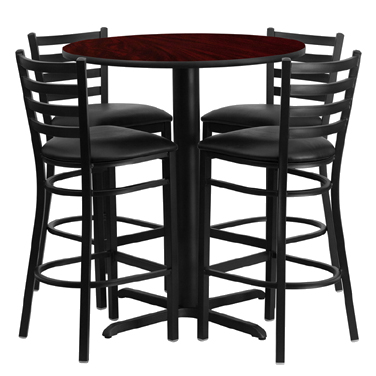 HDBF1022 Flash Furniture - HDBF1022-GG Table & Chair Set (1) round 30