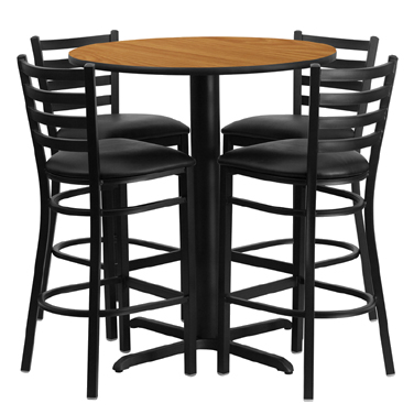 HDBF1023 Flash Furniture - HDBF1023-GG Table & Chair Set (1) round 30