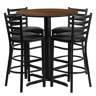 HDBF1024 Flash Furniture - HDBF1024-GG Table & Chair Set (1) round 30