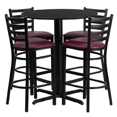 HDBF1025 Flash Furniture - HDBF1025-GG Table & Chair Set (1) round 30