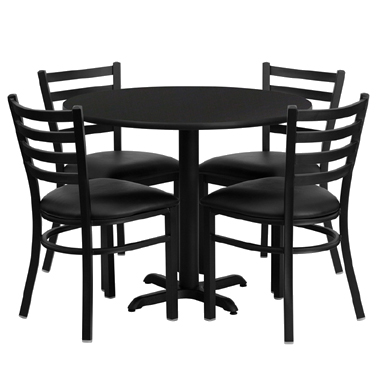 HDBF1029 Flash Furniture - HDBF1029-GG Table & Chair Set (1) round 36