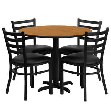 HDBF1031 Flash Furniture - HDBF1031-GG Table & Chair Set (1) round 36