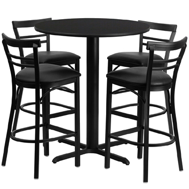HDBF1033 Flash Furniture - HDBF1033-GG Table & Chair Set (1) round 24