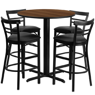 HDBF1036 Flash Furniture - HDBF1036-GG Table & Chair Set (1) round 24