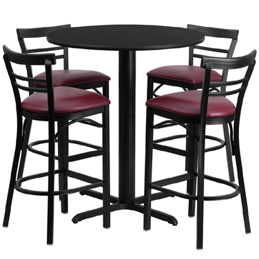 HDBF1037 Flash Furniture - HDBF1037-GG Table & Chair Set (1) round 24