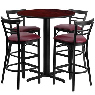 HDBF1038 Flash Furniture - HDBF1038-GG Table & Chair Set (1) round 24