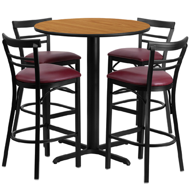 HDBF1039 Flash Furniture - HDBF1039-GG Table & Chair Set (1) round 24