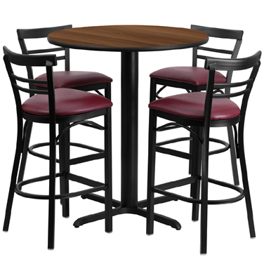 HDBF1040 Flash Furniture - HDBF1040-GG Table & Chair Set (1) round 24