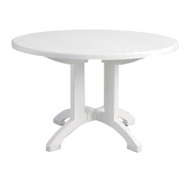 US243104 Grosfillex - Aquaba Pedestal Table 48