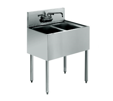 KR18-22C Krowne Metal - Royal 1800 Series Underbar Sink Unit two compartment