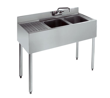 21-32R Krowne Metal - Standard 2100 Series Underbar Sink Unit two compartment