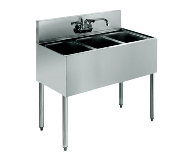 KR18-33C Krowne Metal - Royal 1800 Series Underbar Sink Unit three compartment