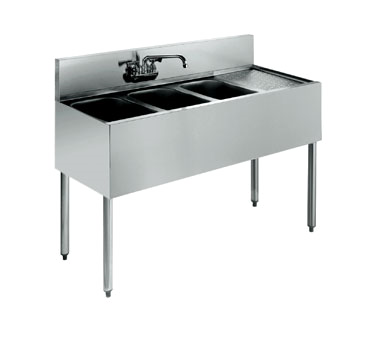 21-43L Krowne Metal - Standard 2100 Series Underbar Sink Unit three compartment