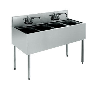 KR21-44C Krowne Metal - Royal 2100 Series Underbar Sink Unit four compartment