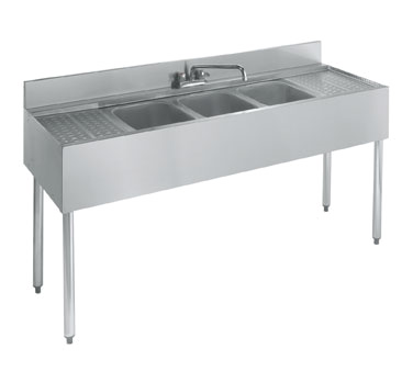 18-73C Krowne Metal - Standard 1800 Series Underbar Sink Unit three compartment
