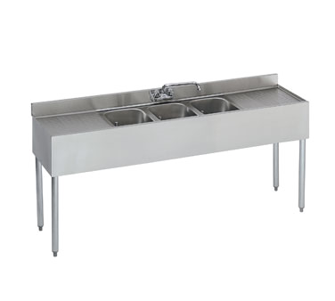 18-63C Krowne Metal - Standard 1800 Series Underbar Sink Unit three compartment
