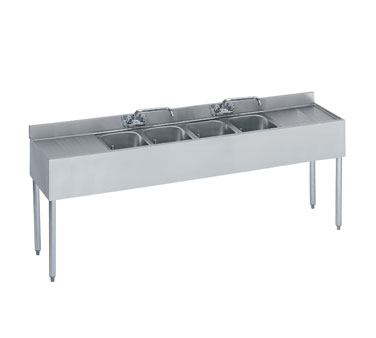 18-74C Krowne Metal - Standard 1800 Series Underbar Sink Unit four compartment