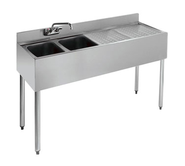 18-42L Krowne Metal - Standard 1800 Series Underbar Sink Unit two compartment