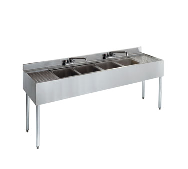 21-64C Krowne Metal - Standard 2100 Series Underbar Sink Unit four compartment