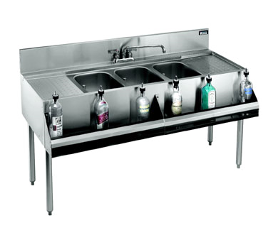 KR21-63C Krowne Metal - Royal 2100 Series Underbar Sink Unit three compartment