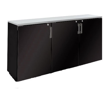 BR72L Krowne Metal - Refrigerated Back Bar Storage Cabinet three section