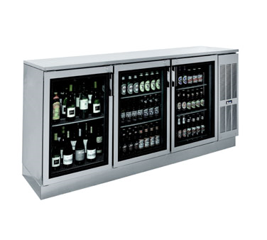 BS84R Krowne Metal - Refrigerated Back Bar Storage Cabinet three section