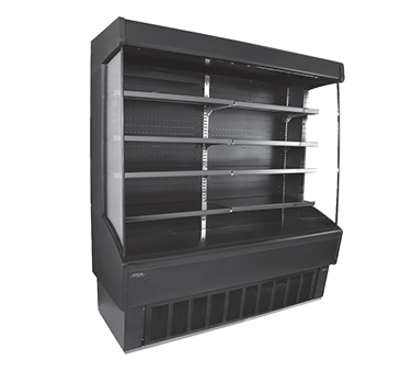 NLVOAM72-79-B Nor-Lake - Vertical Open Air Merchandiser self-contained