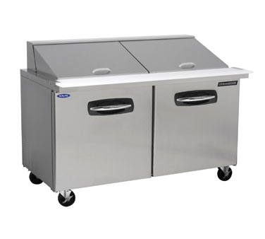 NLSMP60-24 Nor-Lake - AdvantEDGE Mega Top Refrigerated Sandwich Unit 60-3/8