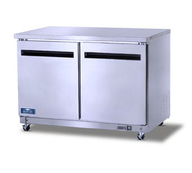 AUC48R Artic Air - Undercounter Refrigerator, reach-in, two-section