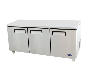 MGF8404 Atosa - Undercounter Reach-In Refrigerator three-section
