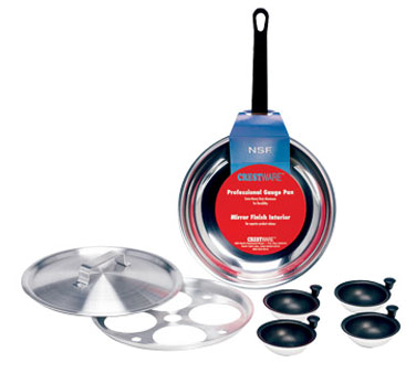 POA Crestware - Egg Poacher Complete Set includes: 8-1/2