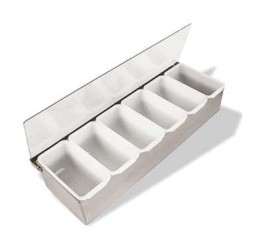 SCD6 Crestware - Condiment Dispenser 6 compartment with inserts