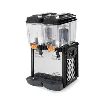 CD2J Eurodib USA - Cofrimell Juice Dispenser (2) 3.2 gallon (12 liters) removable polycarbonate bowls