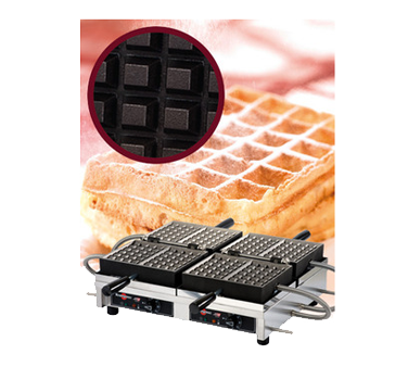 WECCBBAT Eurodib USA - Krampouz Belgian Waffle Maker double with 180° opening