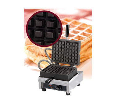 WECCBCAS Eurodib USA - Krampouz Belgian Waffle Maker single with 90° opening