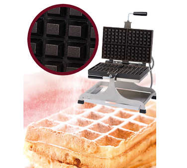 WECCBEAT Eurodib USA - Krampouz Swivel Waffle Maker makes four  4 — 6 Belgian (Bruxelles)