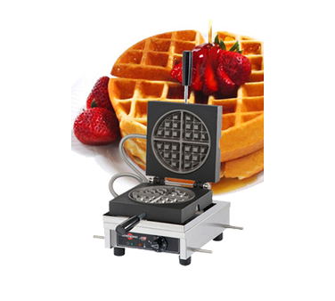 WECCCCAS Eurodib USA - Krampouz Round Waffle Maker single with 90° opening