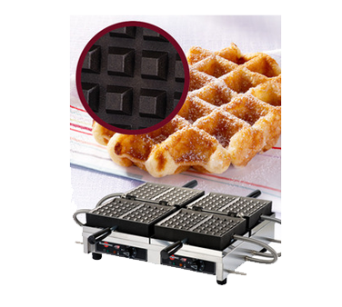 WECCHBAT Eurodib USA - Krampouz Liege Waffle Maker double with 180° opening