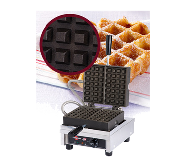 WECCHCAS Eurodib USA - Krampouz Liege Waffle Maker single with 90° opening