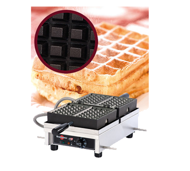 WECDBAAS Eurodib USA - Krampouz Belgian Waffle Maker single with 180° opening