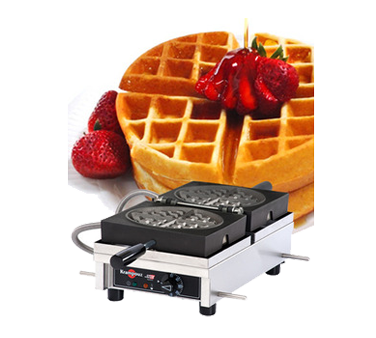WECDCAAS Eurodib USA - Krampouz Round Waffle Maker single with 180° opening